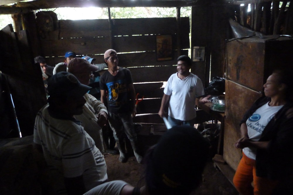A bit dark and blurry, but this is inside Beatriz' house, as she spoke with the team on day one.