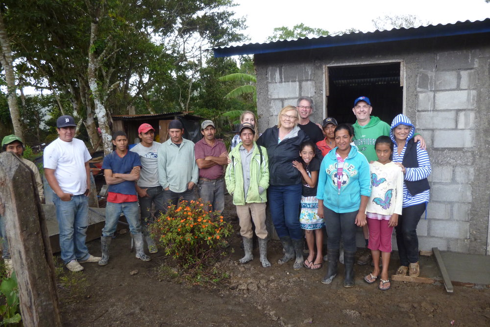 "Ana, her family, the masons and volunteers of worksite A. In a friendly rivalry, we decided A stands for ""A-lmost as good as worksite B."""