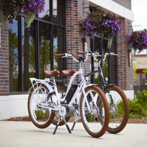TREK ELECTRA E-BIKE    Two-hour bike rental is complimentary for guests . There's no better way to explore a community than on an Electra Go Bosch-powered e-bike. Pedal around Titletown to explore the area without even breaking a sweat. These intuitive, comfortable, reliable e-bikes are fun to ride and easy to operate.  Visit the concierge desk to learn more.