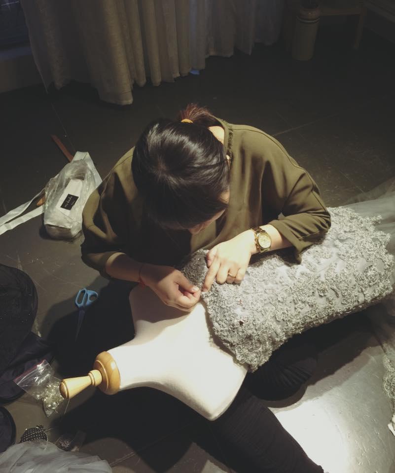 Michelle 简诗颖  – 手工婚纱製作
