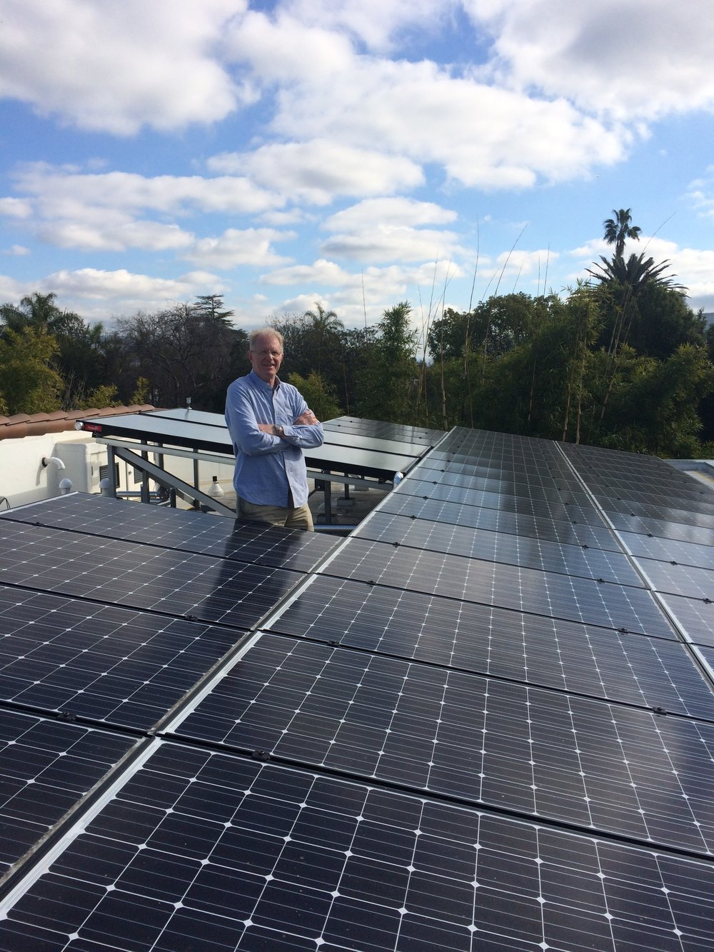 Ed with his solar panels