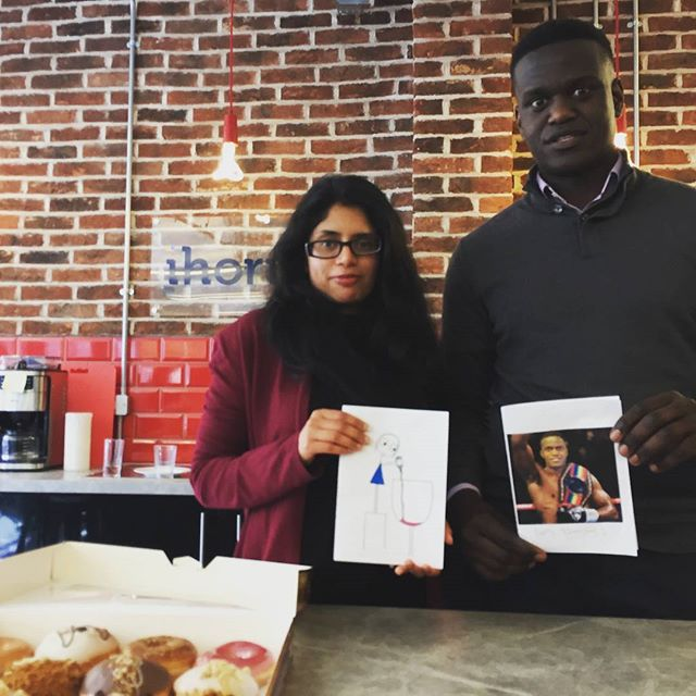 Crispy Creme doughnuts for Faisal and Sonal! Cheer up guys 😂😄😂 #happybirthday #positivevibes #accountants #oldstreet #shoreditch #finance #entrepreneur #london #strengthinnumbers #startup #tech #business #officelife