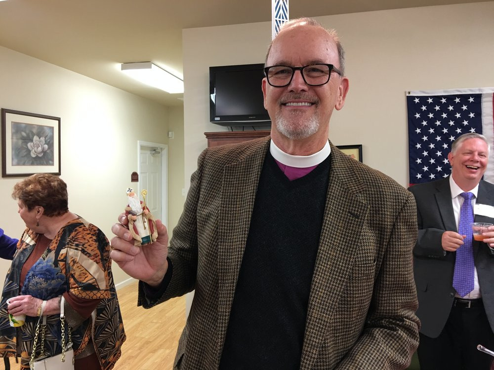 Bishop David with his St. Nicolas ornament