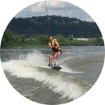 """I had a rad time with the crew from Wake Up Pgh! They were positive and encouraging even though I hadn't been on a board in about 15 years. I got up on the second try! It's always fun to hang out with people who are pumped about water sports and being on the river. I will definitely be back."" Nicole, Troy Hill"