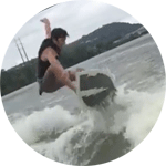 """As a skateboarder it was an easy transition to wakeboarding. They had me popping off the wake in no time. I'll definitely go back to work on that toe-side wake-to-wake jump. Wake skating was much easier to get up and control than I expected. Besides a little water in my ears, this was the best time ever."" Nino, Carrick"