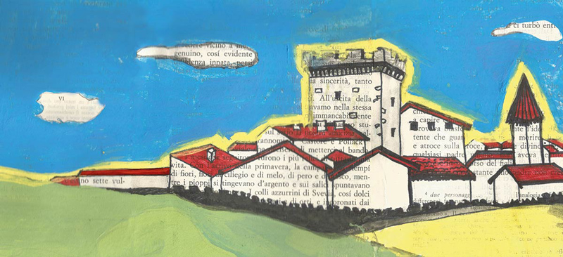 L'illustrazione della Decima Edizione di Capalbio Libri, ad opera di Michela Nicchiotti, Agosto 2016