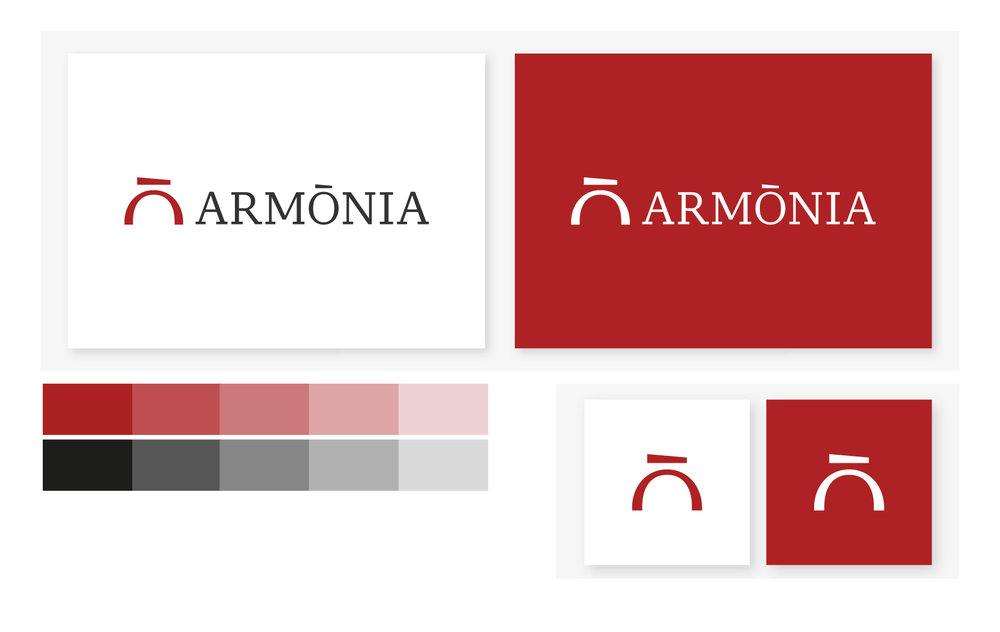 Alcune immagini del logotipo Armònia SGR