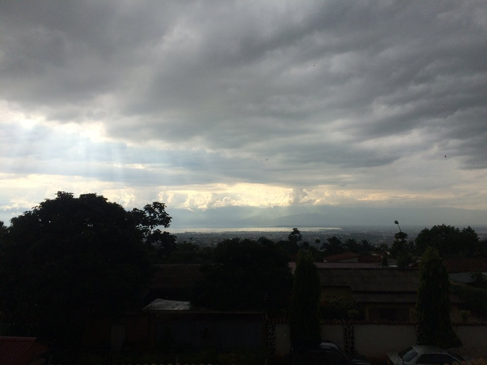 That is the city, and Congo in the clouds.