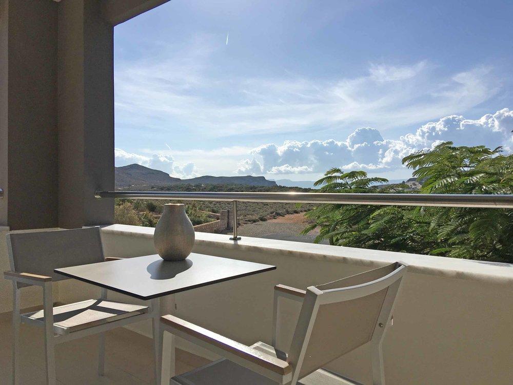 Balcony view of Simos Bay