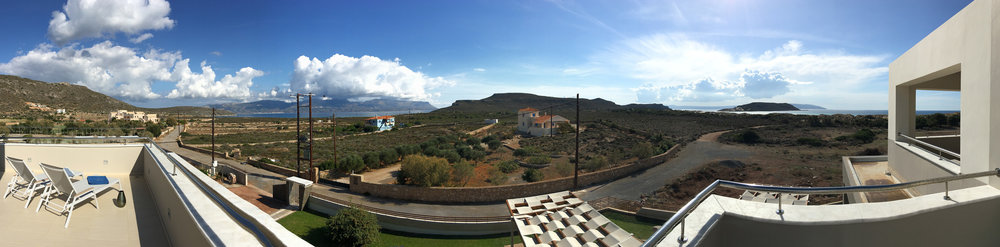 Panoramic view from the Grand Suite balcony