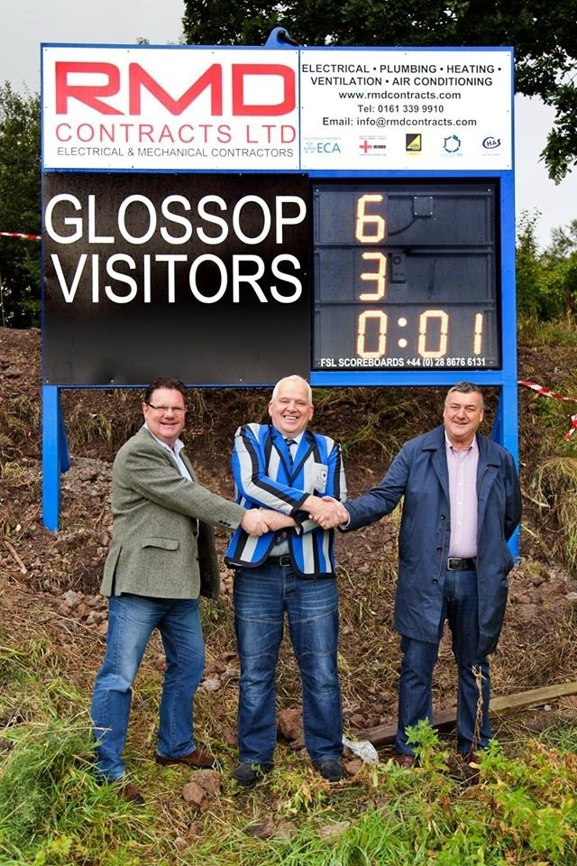 GRUFC scoreboard sponsered by RMD Contracts Ltd.