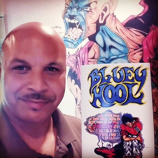 "Just recieved proof sample of the ""Bluey Kool"" comic book. Gave it a thumbs up for printer to proceed with order. Will have copies the end of next week. Stay tuned. All the blessings!!! #BlueyKool"