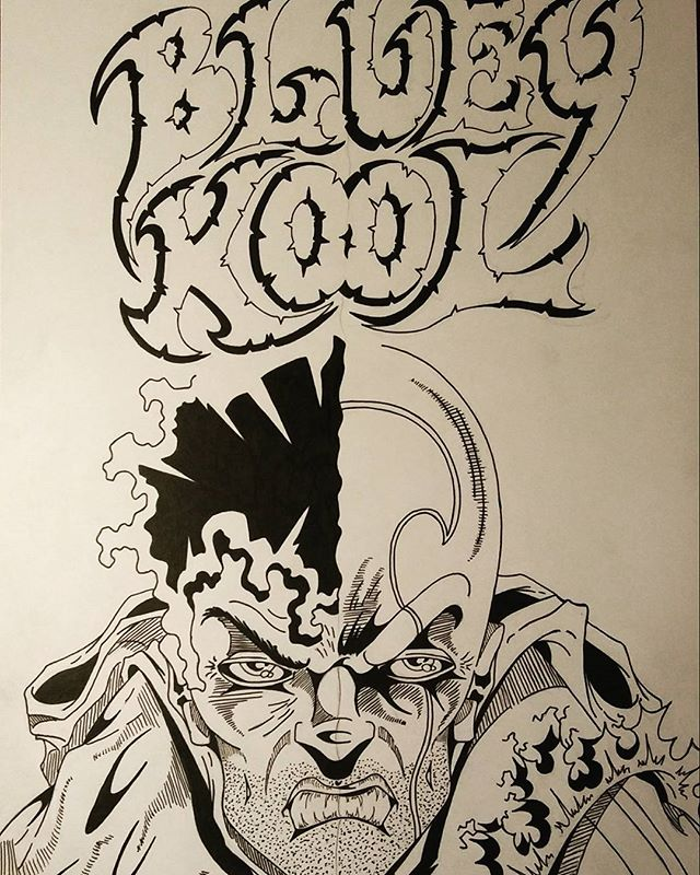 "Starting on ""Bluey Kool"" issue 2. Issue 1 going to press this week. Stay tuned. Blessings to all!!! #BlueyKool"