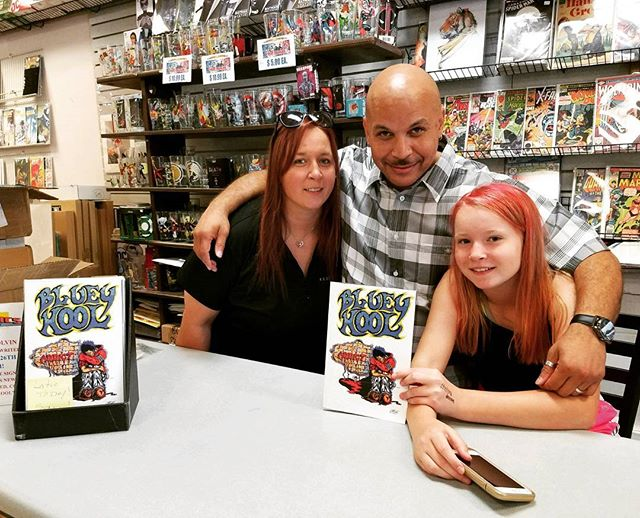 """Bluey Kool"" book signing with my two loves! Blessings!!! #blueykool"