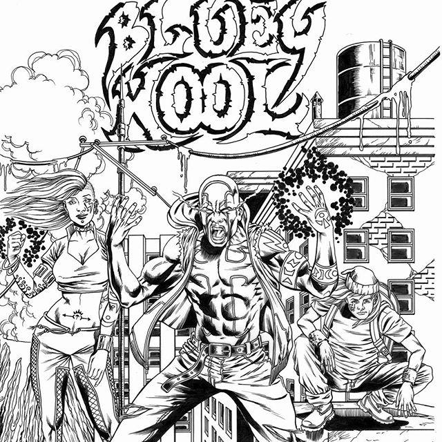 """""""Bluey Kool"""" fan art done by the talented Rance David Dixon! Love it!!! #blueykool"""