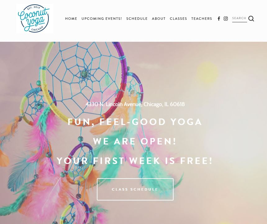 Coconut Yoga Chicago Integrated Scheduling