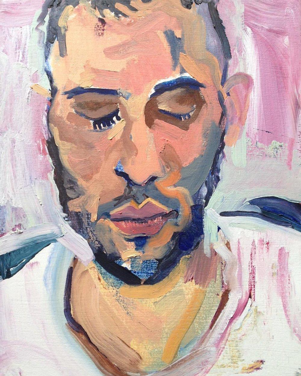 "Sleeper II , 2016, Oil on canvas, 11 x 14"""