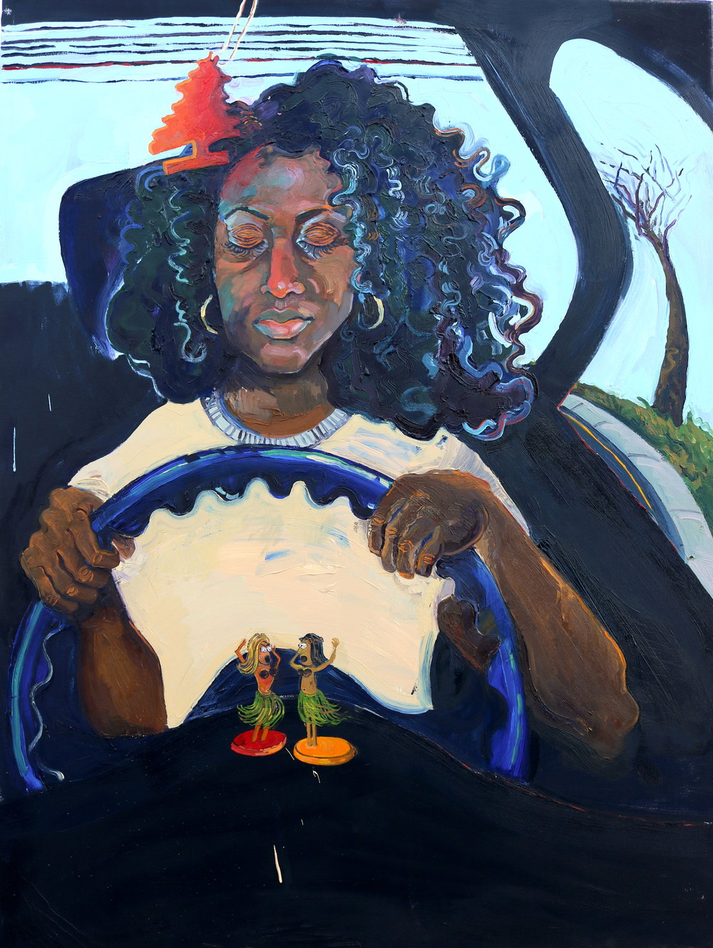 """Sleeper III , 2016, Oil on canvas, 36 x 48"""""""