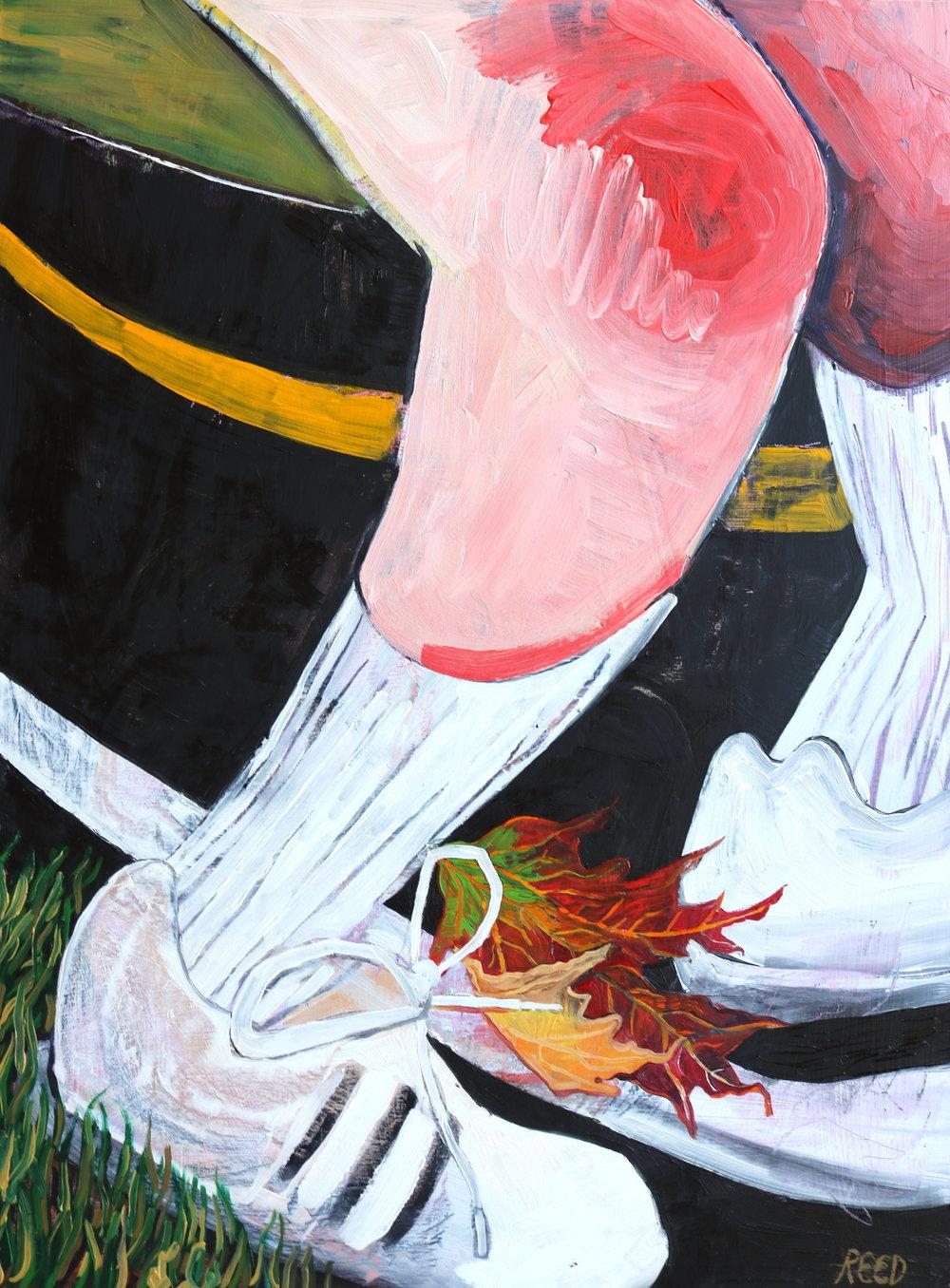 """Running , 2016, Oil on Panel, 18 x 24"""""""