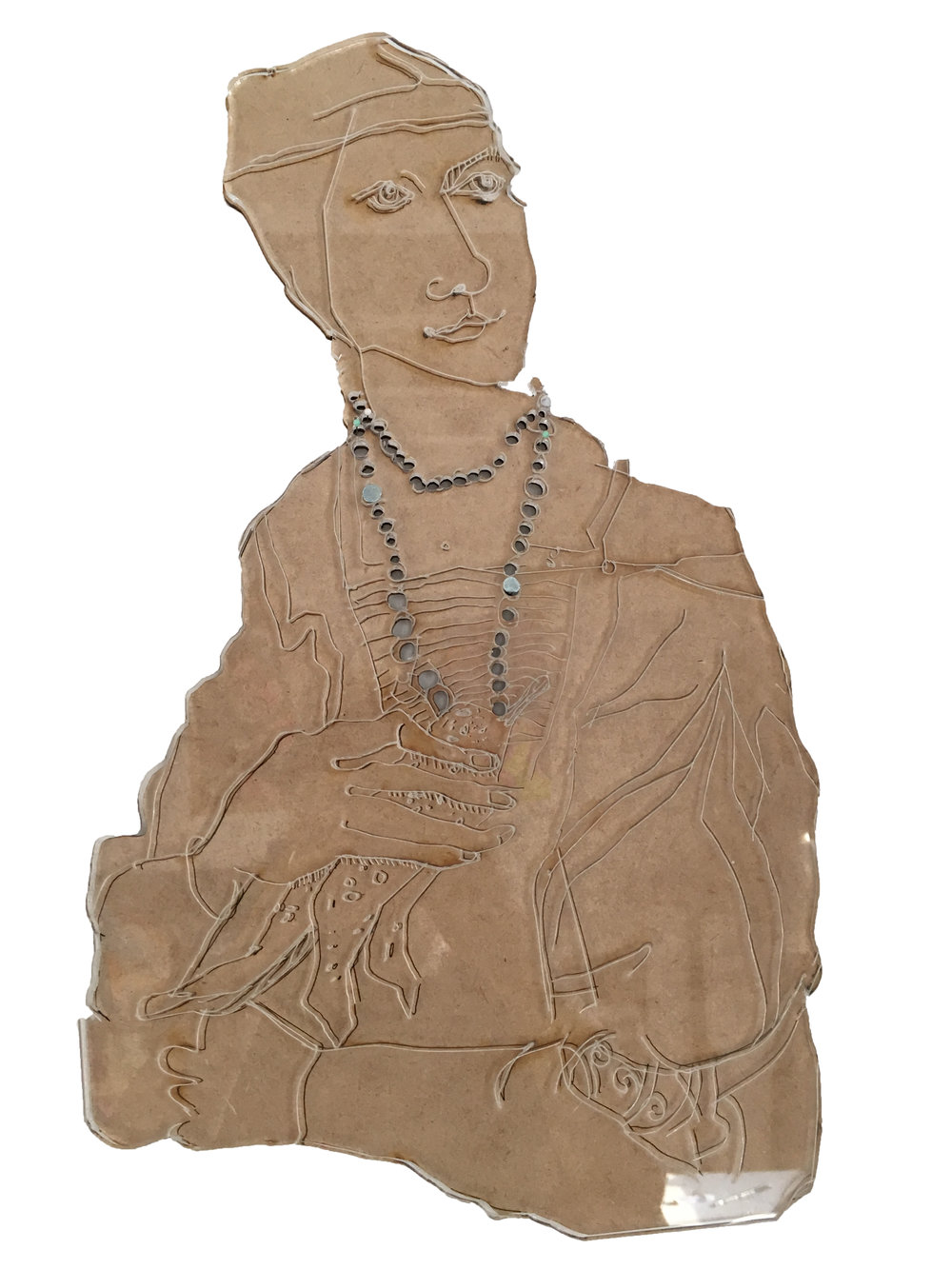 Woman Artifact, 2018, Acrylic Sheet on Panel