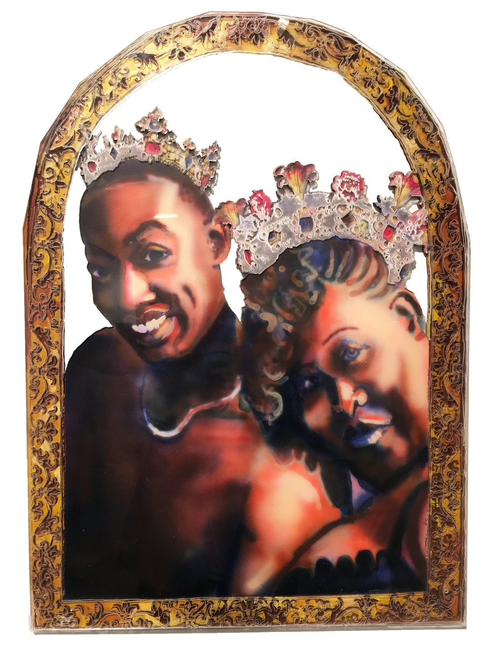 King and Queen, 2018, Acrylic on Panel