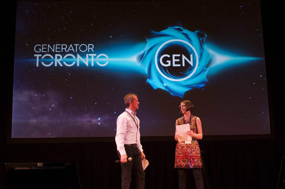 Marianne Mader and Chris Hadfield at the 2015  Generator Show