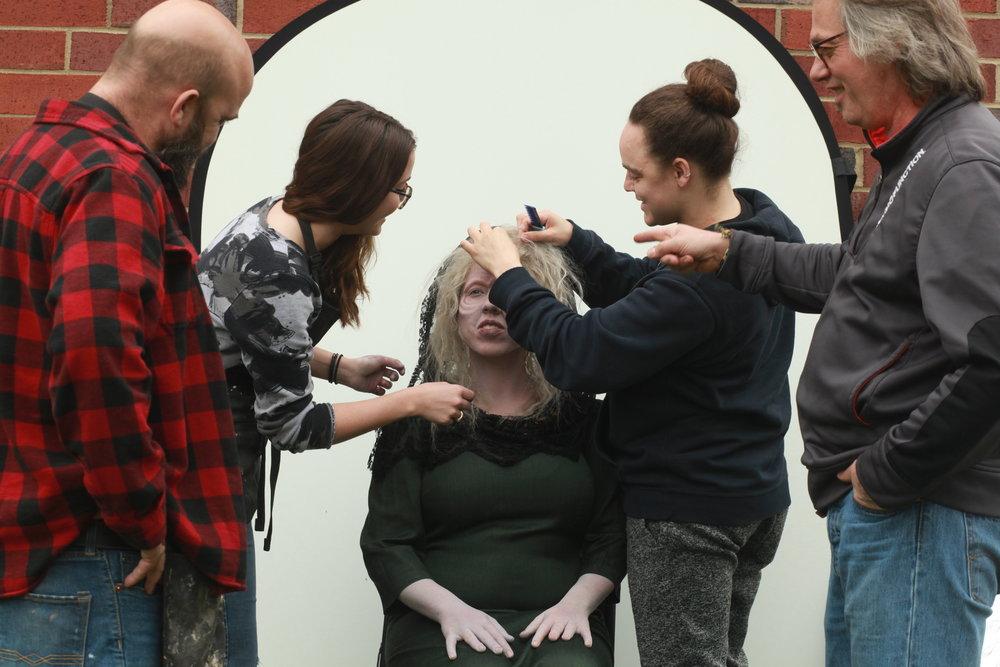 behind the scenes at AMUA teamwork banshee folklore touchups