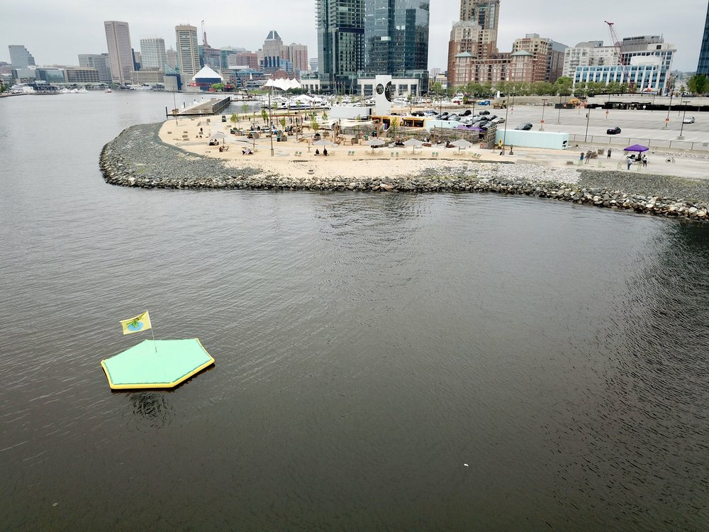 A picture of our brand new floating golf target at Sandlot. It proceeded to float across the entire harbor.