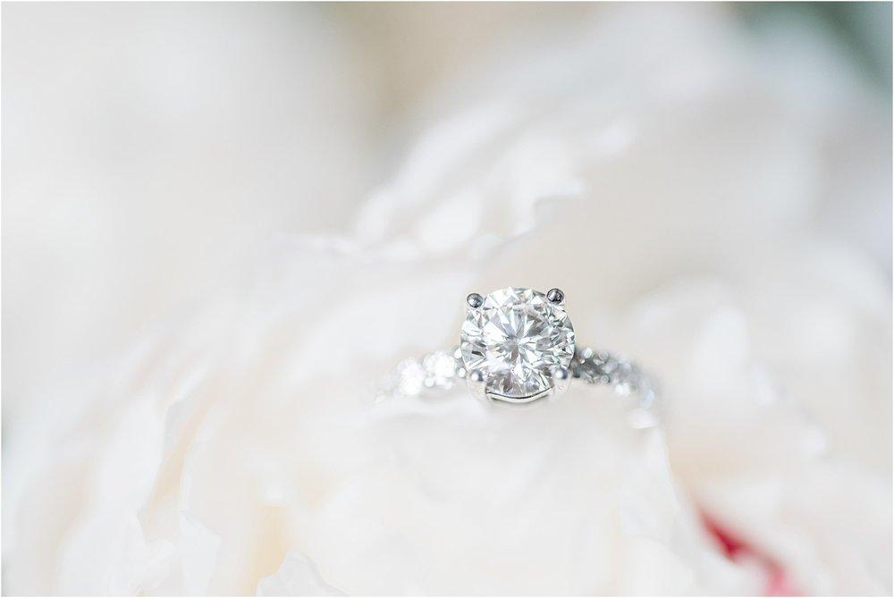 lace wedding dress ring shot