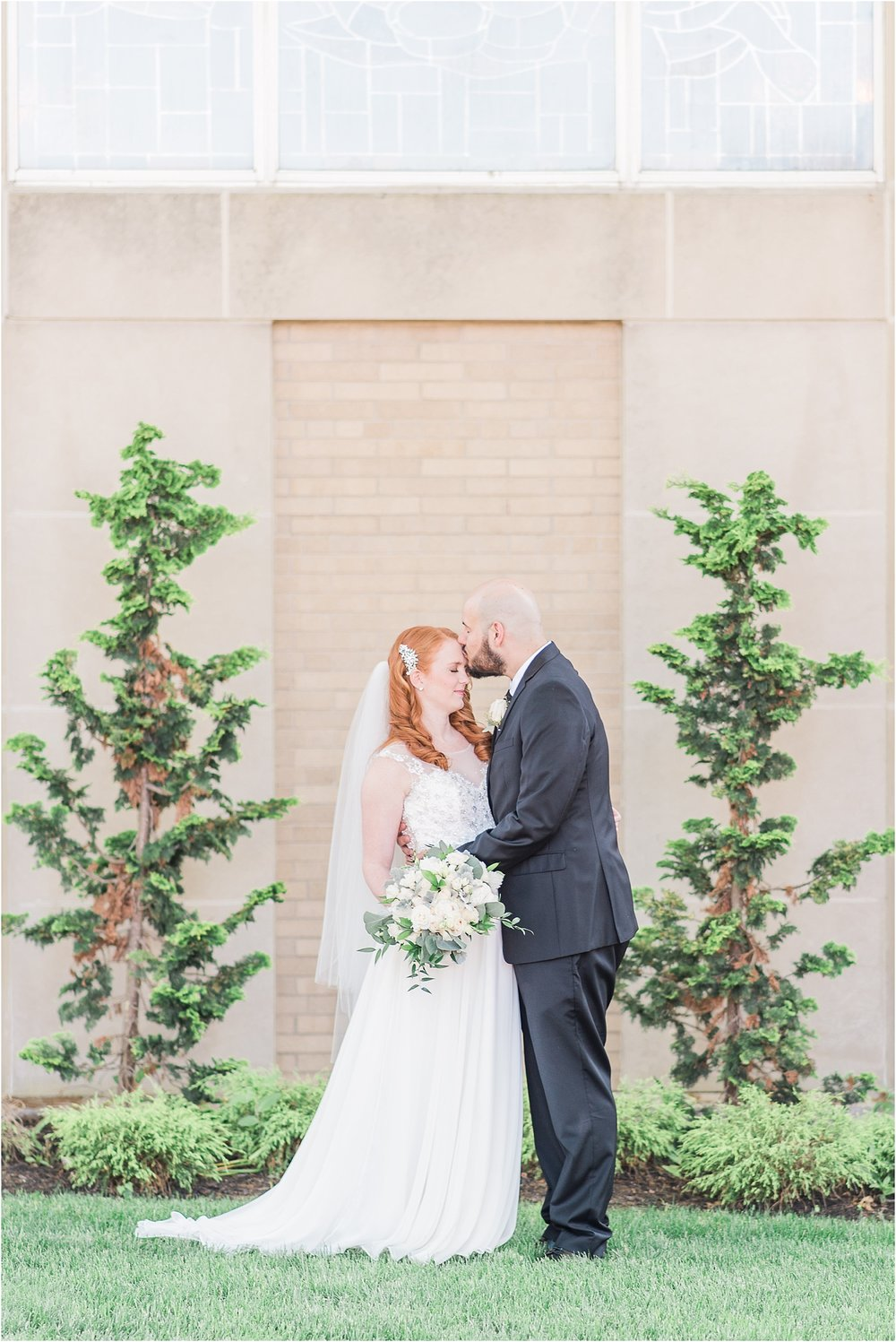 intimate long island wedding outside church