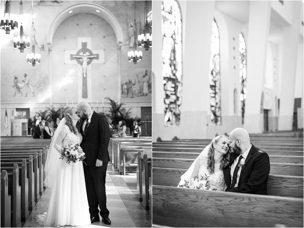 bride and groom portraits in a church long island new york wedding