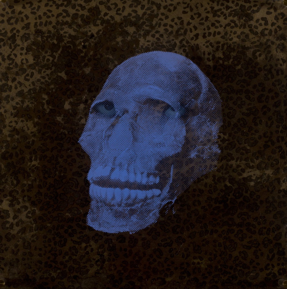 Evidence  Vision de nuit  Technique mixte : altuglass et bois 40 x 40 cm
