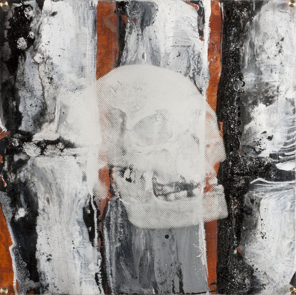 Vision de jour  Technique mixte : altuglass et bois 40 x 40 cm