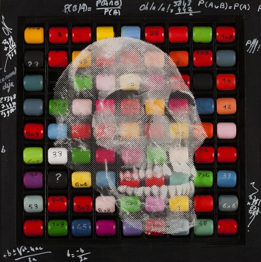 Toujours dans ma tête  Vision de jour  Technique mixte : altuglass et bois 40 x 40 cm