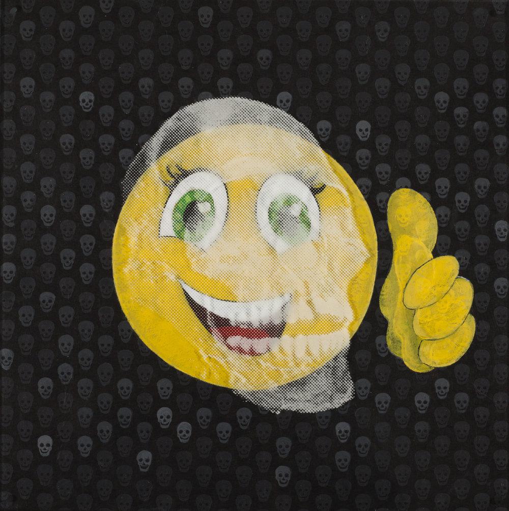 Tout va bien  Vision de jour  Technique mixte : altuglass et bois 40 x 40 cm