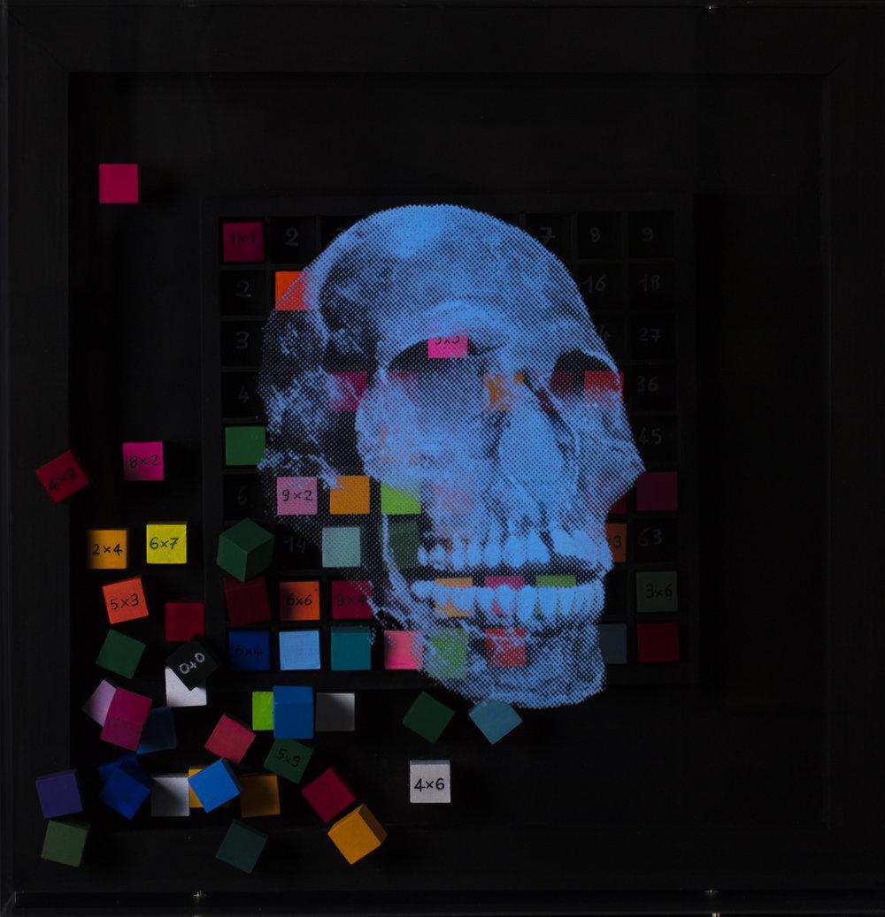 Renversement  Vision de nuit  Technique mixte : altuglass et bois 40 x 40 cm