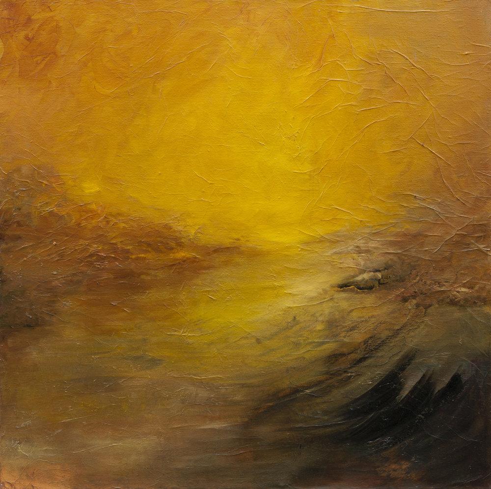 Flamboyant Huile sur toile -110 X 110 cm