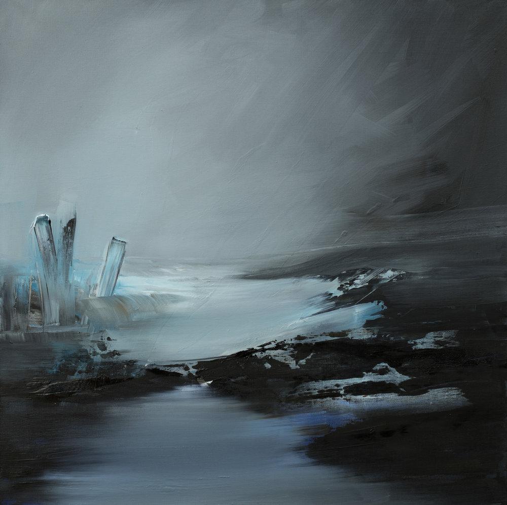 Glacier Huile sur toile - 80 X 80 cm