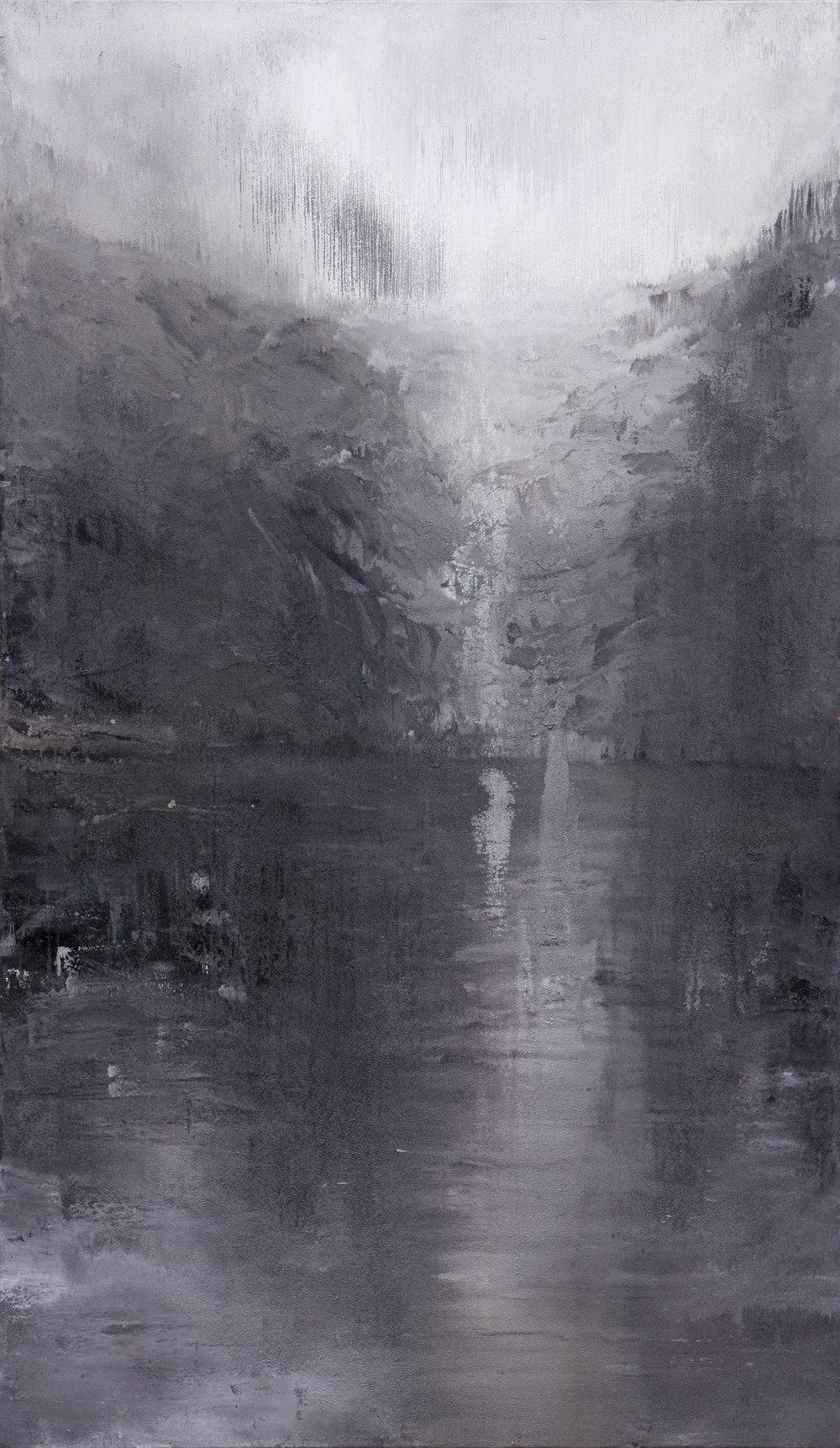 Chute Huile sur toile - 195 X 114 cm