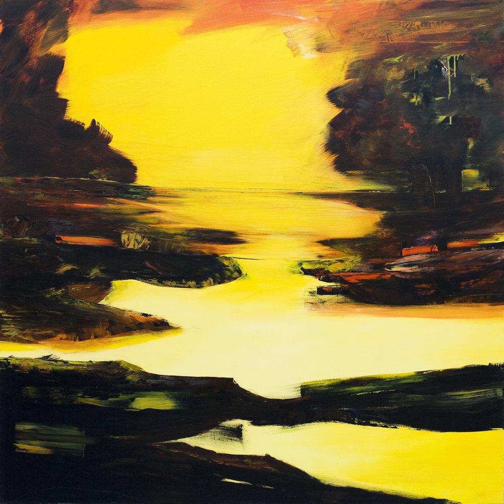 Impression Huile sur toile - 150 X 150 cm