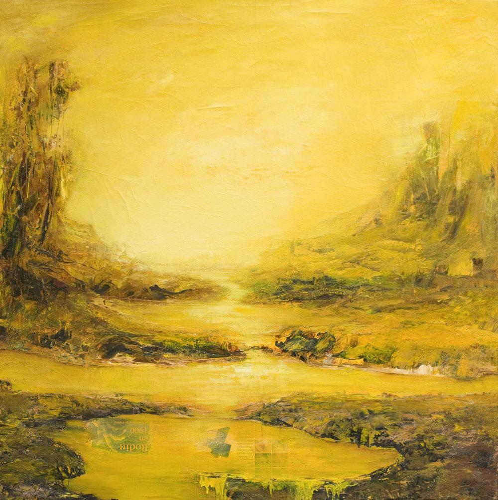 Hommage à Rodin Huile sur toile - 130 X 130 cm
