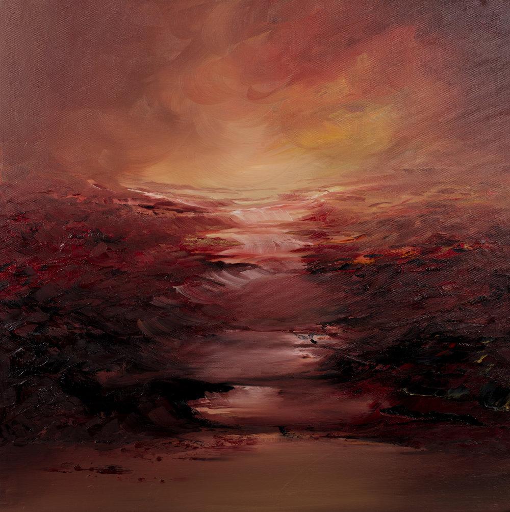 Crépuscule Huile sur toile - 60 X 60 cm