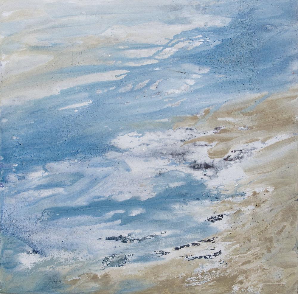 Rocher Huile sur toile - 150 X 150 cm