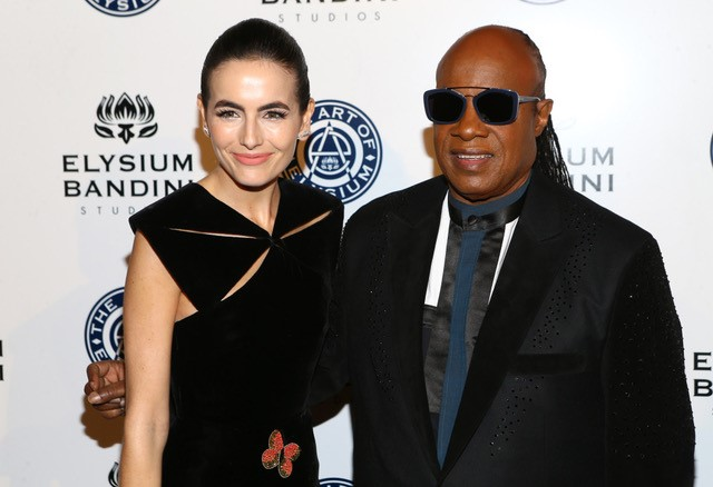 Stevie Wonder and Camilla Belle
