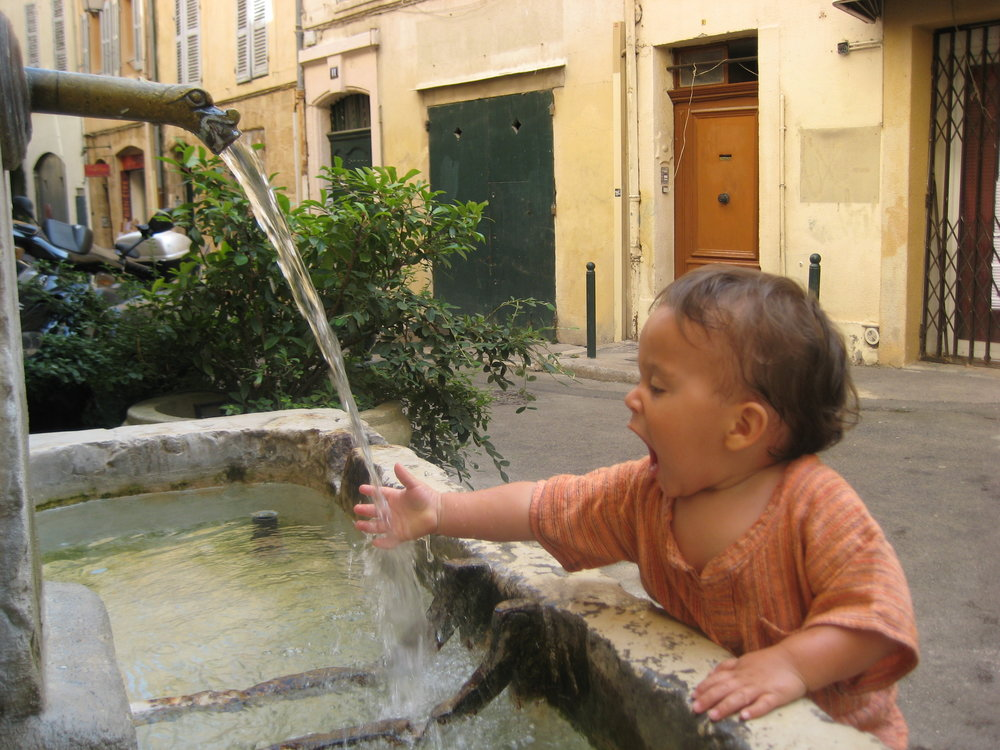 My little dude in Aix-en-Provence, France