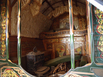 Interior of caravan at Irish Rose Farm