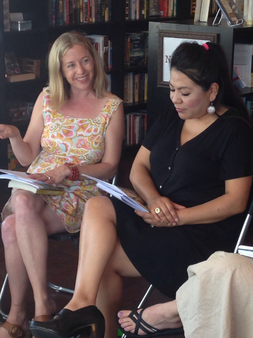 Gloria and me leading a workshop for writers at the Bookbar in Denver.