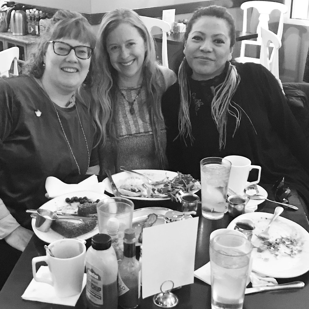 Gloria, me, and awesome literary agent, Erin Murphy, who helped negotiate the deal along with trusty film agent Eddie Gamarra of the Gotham Group.