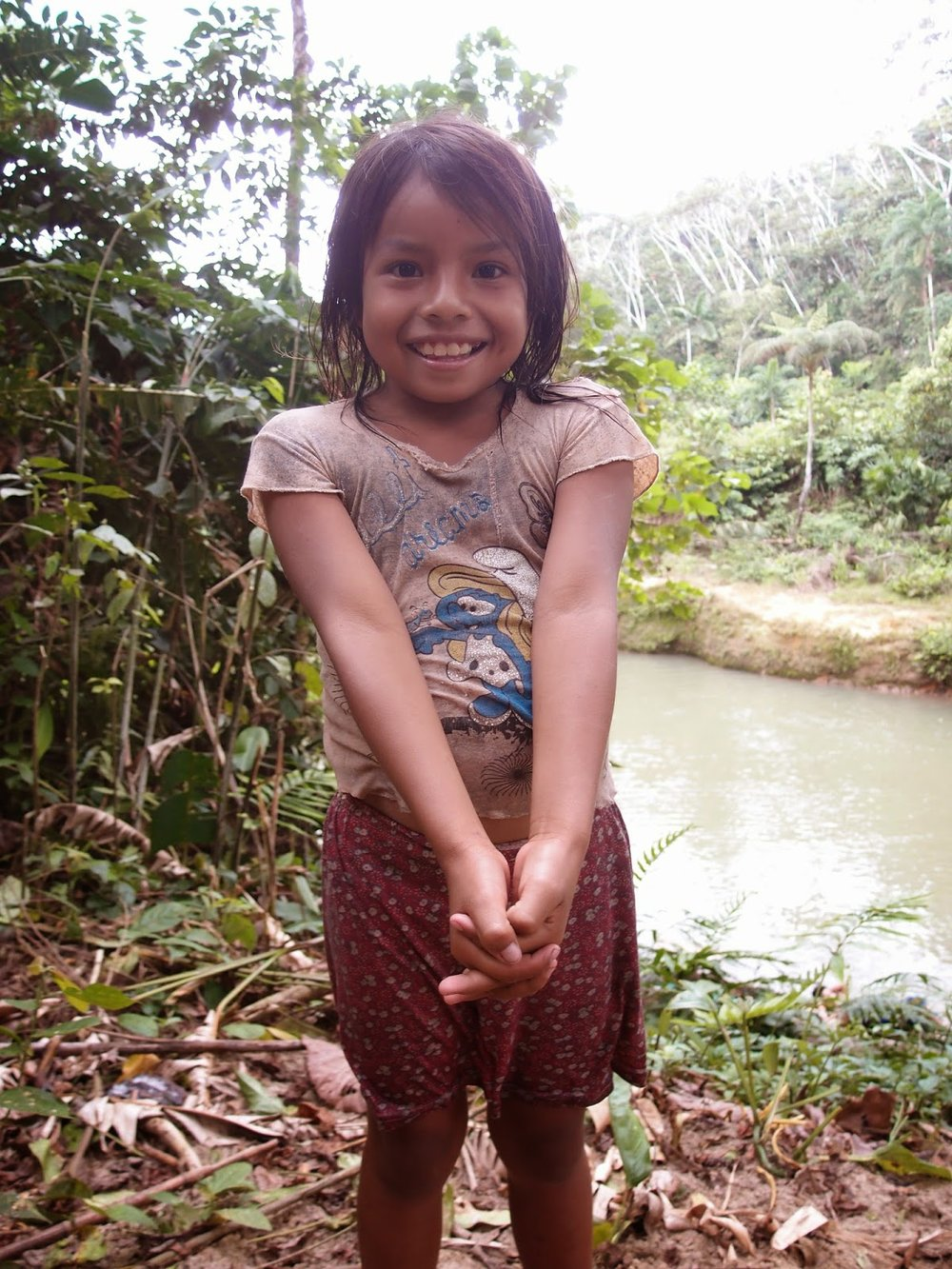My young Huaorani friend (whose T-shirt inspired Isa's T-shirt in the book!)
