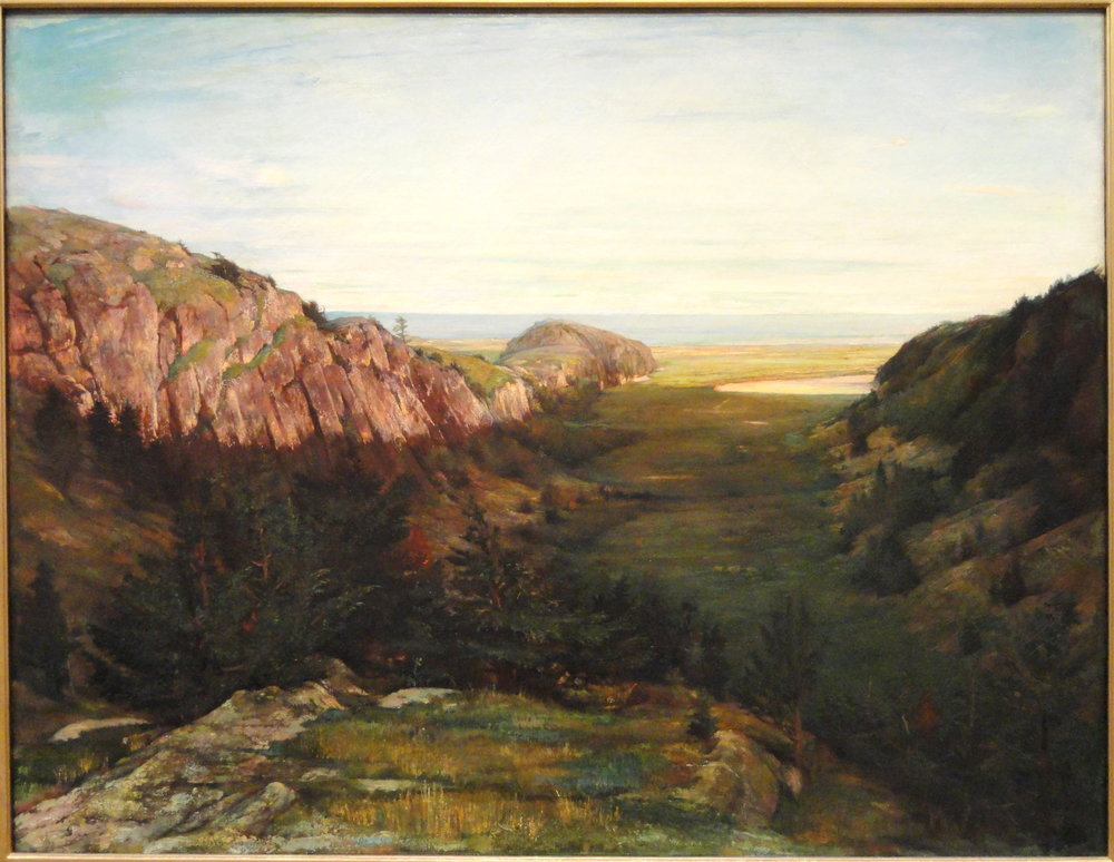 John La Farge - The Last Valley - Paradise Rocks - National Gallery of Art, DC